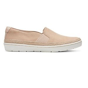 Clarks Collection Leather Slip-On Shoes 8.5 NWOT
